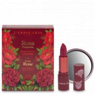 "ROSA PURPUREA Geschenkset ""VANITROSA"", Seideneffekt Lippenstift mit Spiegel 3,5ml"